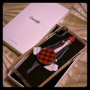 Casetify iPhone XS Max case w/ pop socket